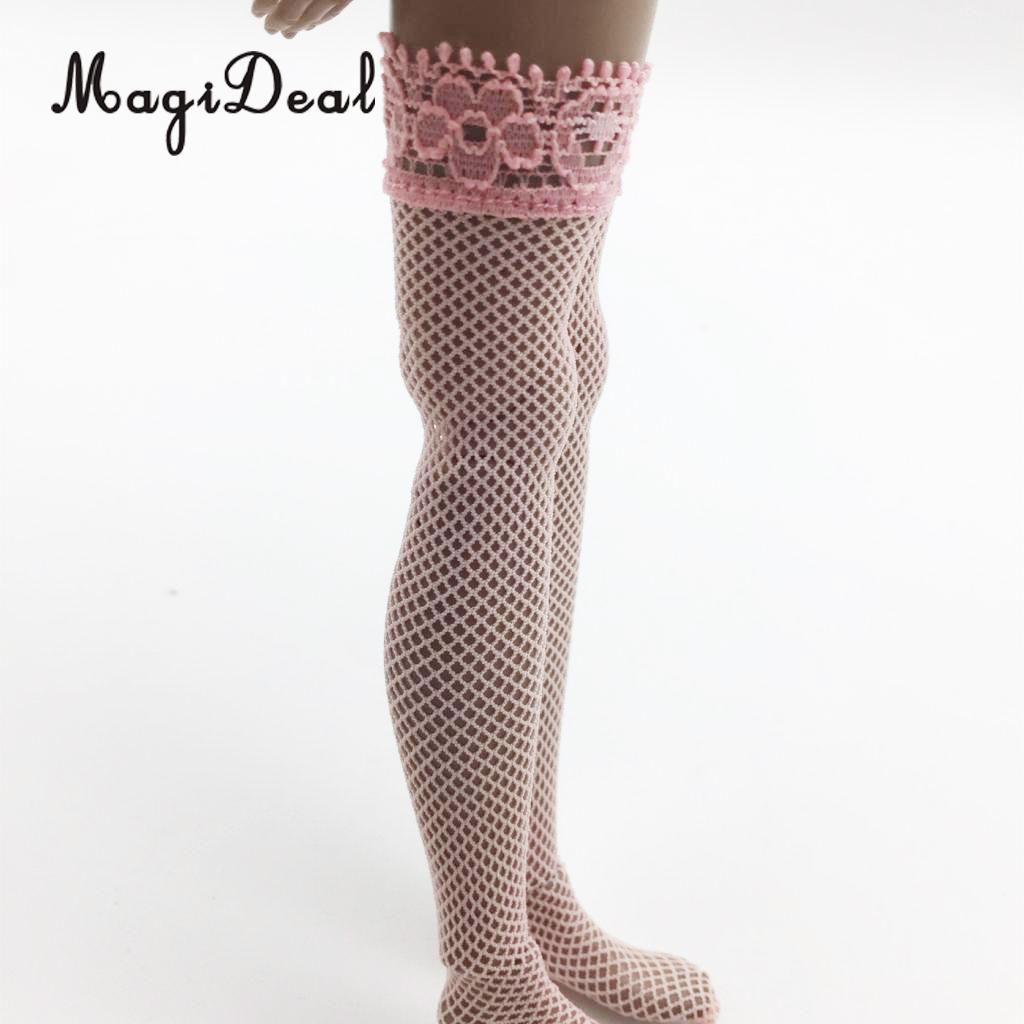 1/6 Female Action Figure Lace Stockings Socks 3Pairs for 12'' Phicen Kumik Hot Toys Models