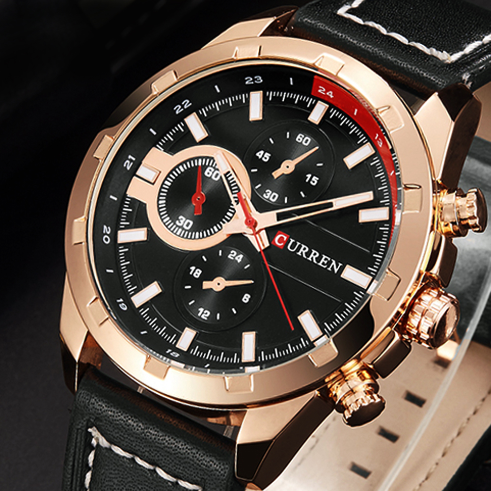 mens talking watches promotion shop for promotional mens talking curren quartz watch men watches top brand luxury famous wristwatch male clock wrist watch luminous watch relogio masculino 2016