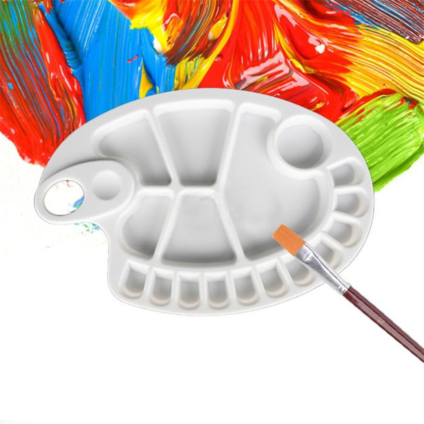 High Quality 18-Well Profesional Artist Paint Palette Tray Paint Palettes(China (Mainland))