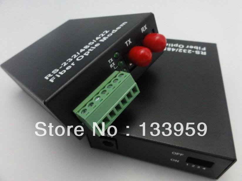 25KM Single Mode Dual Fiber Fiber Modem Rs485/RS422/RS232 Optional Data to Fiber Optic Media Converter, 1 FC Fiber Connector(China (Mainland))