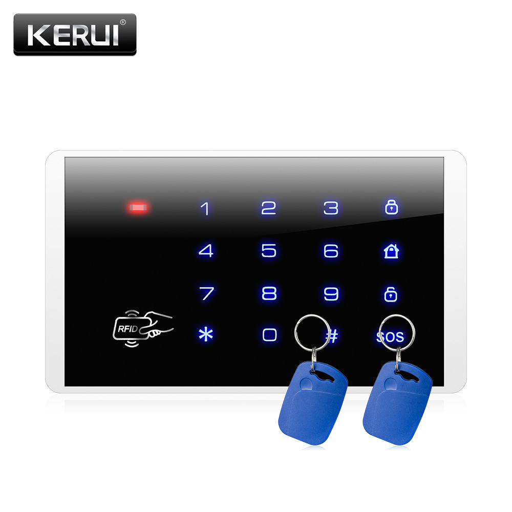 K16 Wireless RFID Touch Keyboard For PSTN GSM Home Personal House Alarm System 433MHz Wireless Password Keypad system(China (Mainland))