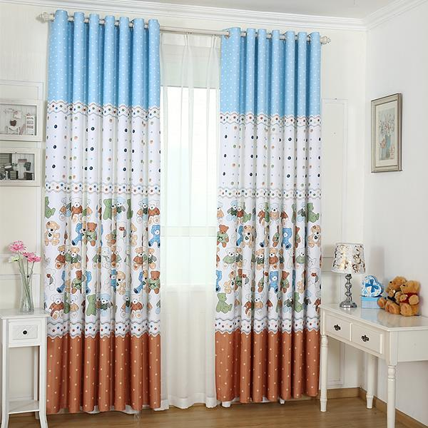 New arrival printed window blackout curtains for children for Kid curtains window treatments