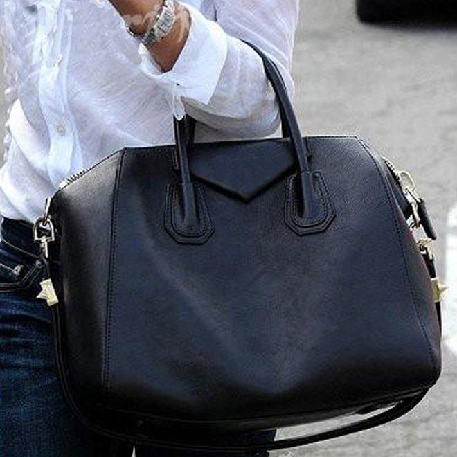 Brand Women Leather Handbags Tote Top 2015 New Shoulder Bags Antigona Duffle Medium Grain Boston Bag 0169 Black,Brown