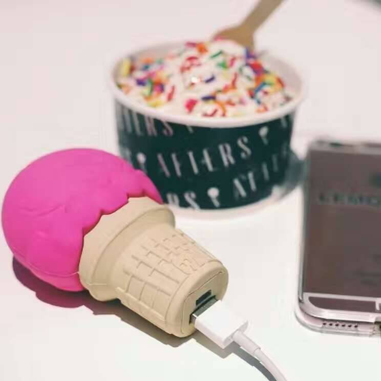 Ice cream Power Bank Phone Charge for Phone Emoji PowerBank Charger Cartoon USB Battery