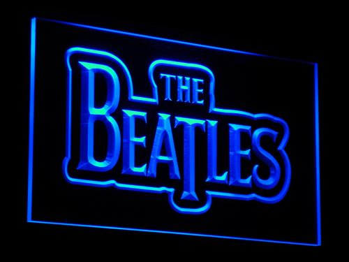 c012 The Beatles Band Music Logo Bar LED Neon Sign with On/Off Switch 7 Colors to choose(China (Mainland))