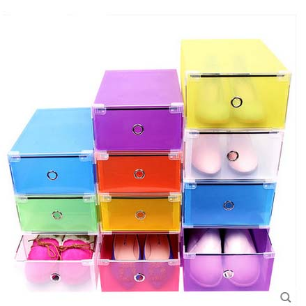 F00182 1Piece Drawer Container Stackable Shoes Box Plastic Foldable Shoes Storage Case Home Waterproof Organizer Box(China (Mainland))
