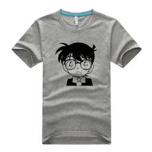 Detective Conan Tee Shirt Mens 2016 Summer New Arrival Meitantei Konan Printed T-Shirt 100% Cotton Free Shipping