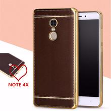 Buy Leather Case Xiaomi Redmi Note 4X Phone Cover PU Litchi Grain Luxury Cases TPU Soft Silicone Funda Xiomi Redmi Note4X 4 X for $2.89 in AliExpress store
