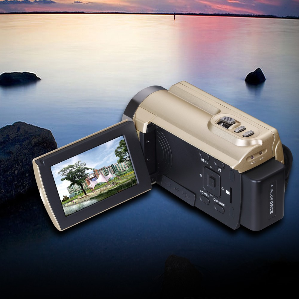HDV-5053STR Portable Camcorder Full HD 1080p 16x Digital Zoom Digital Video Camera Recorder DVR with Wifi Max.20MP Touch Screen