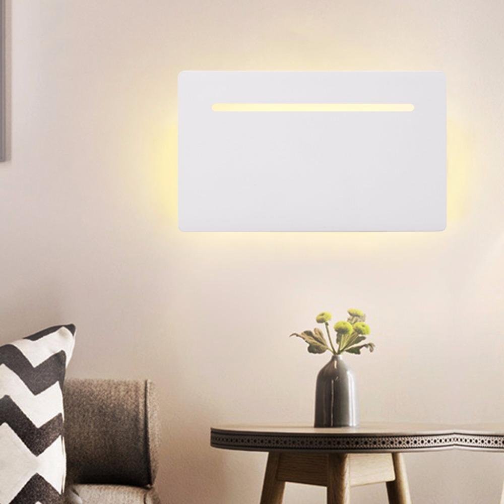 Excelvan 5W Flat Wall Sconce Wall Lamp Night Light,Indoor Light Fixture Lamp for Hallway Pathway Balcony Bedroom Living Room(China (Mainland))