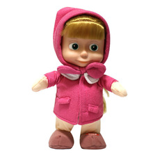 Masha And The Bear Dolls Matha Talking Musical Dancing Toys Russia Baby Dolls Gift for Children Kids Baby(China (Mainland))