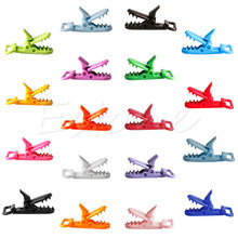 10pcs Mix Colors Plastic Pacifier Clips Holder Baby Dummy Clip Crocodile Mouth Design Toddler Feeding Accessories Tools A19026(China (Mainland))