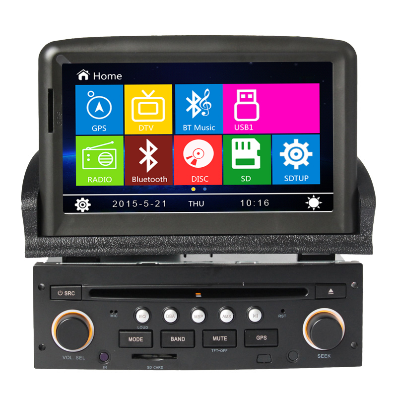 2 din Car Gps navigation system For Peugeot New 307 DVD Radio Steering wheel control Bluetooth Canbus Reversing Camera Free map(China (Mainland))