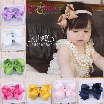 6 inch hair bows Infant headband big hair bow hairbows 16 colors fo choose