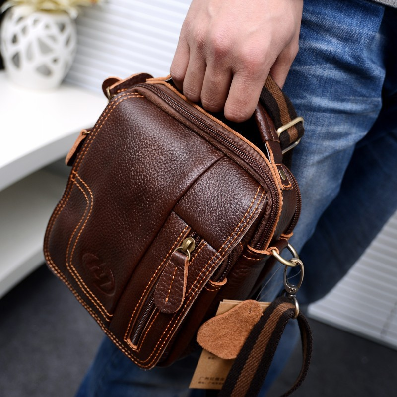 2015 fashion men Messenger Bags the suitcase Bag sport Leather Small Bag Crossbody Multifunctional Waist Pack free shipping(China (Mainland))