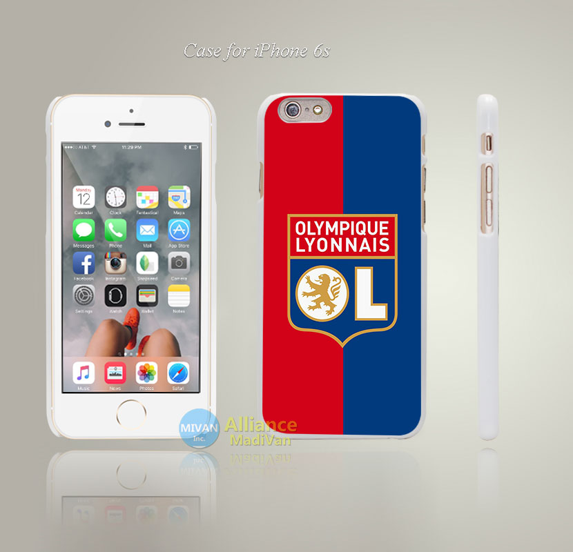 Lyon Style Hard White Case Cover Coque for iPhone 4 4s 4g 5 5s 5g 5c 6 6s 6 6s Plus(China (Mainland))
