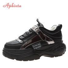Aphixta Neue Plattform Turnschuhe Ultra-licht Trend Frauen Schuhe Bling Explosionen Dicken sohlen Spitze-up High- mit hohen absätzen Damen Schuhe Frau(China)