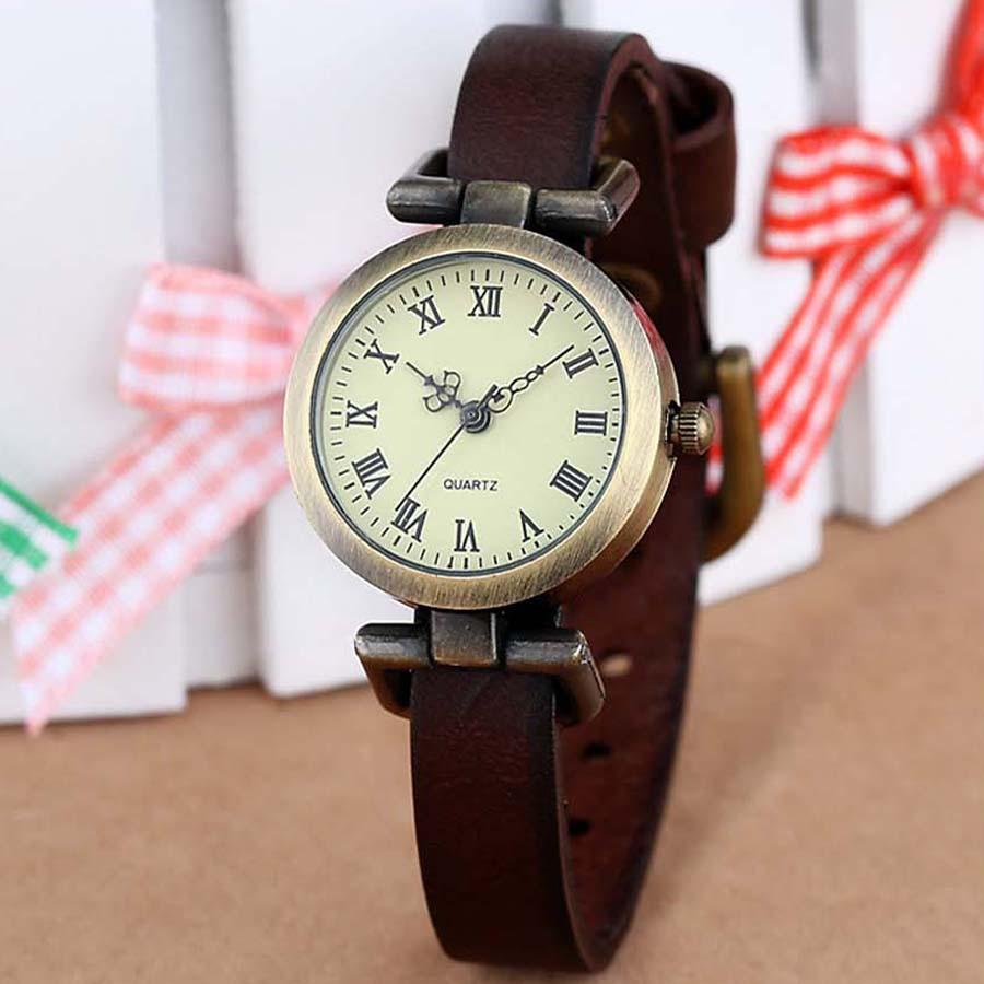 New Fashion Hot-selling PU Leather Female Watch Roma Vintage Watch Women Dress Watches(China (Mainland))