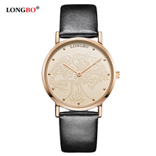 2016 New LONGBO Brand Quartz Watch lovers Watches Women Men Dress Watches Leather Wristwatches Fashion Casual Watches 1pcs 80026