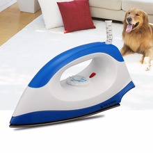 1000W Electric Dry Iron Blue/Pink Irons 220 V Portable Wire Teflon Non-stick Baseplate With Adjusted Temperature Household(China (Mainland))