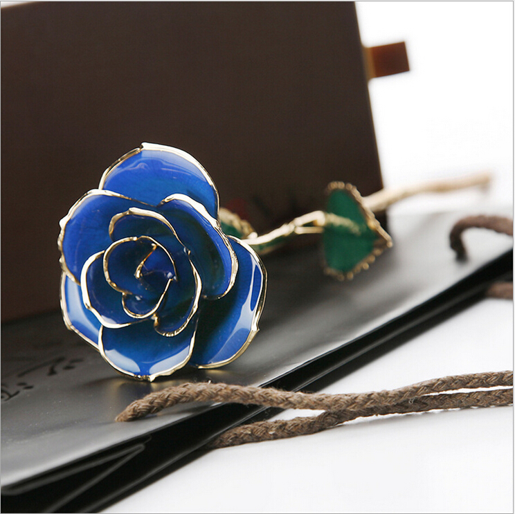 24K gold-plated rose gold rose gold golden BLUELOVER Valentine's Day gift to send his girlfriend(China (Mainland))