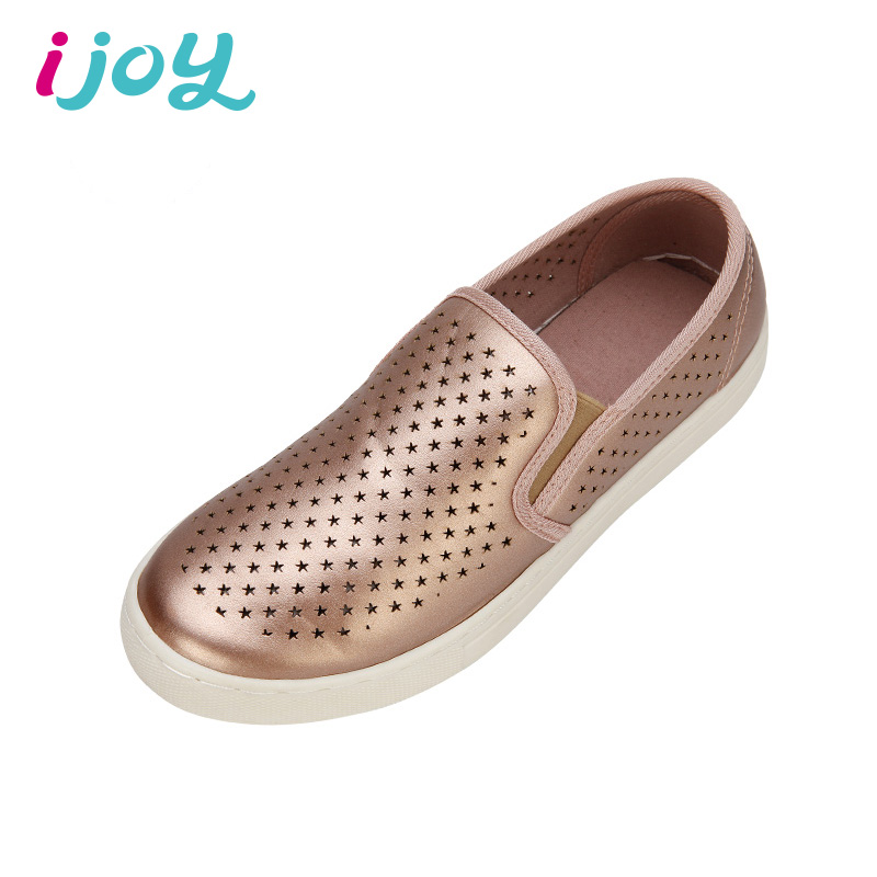 IJOY Star Hollow Design Women Breathable Canvas Shoes Cinnamon Women Casual Round Toe Flat Shoes Ladies Loafers Zapatos Mujer(China (Mainland))