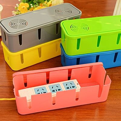 Power Cord Socket Plastic Storage Box Junction Organizer Cable Holder Drag Line Board Management Device With Cooling Holes A164(China (Mainland))