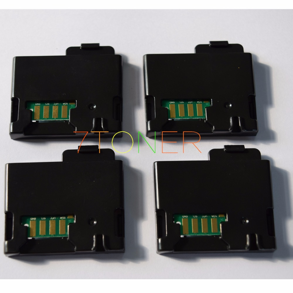 4 x Toner Reset Chip + Chip Cover For DELL E525W 593-BBJU 593-BBJV 593-BBJW 593-BBJX Dell e525w Color Laser All-in-One Printer(China (Mainland))