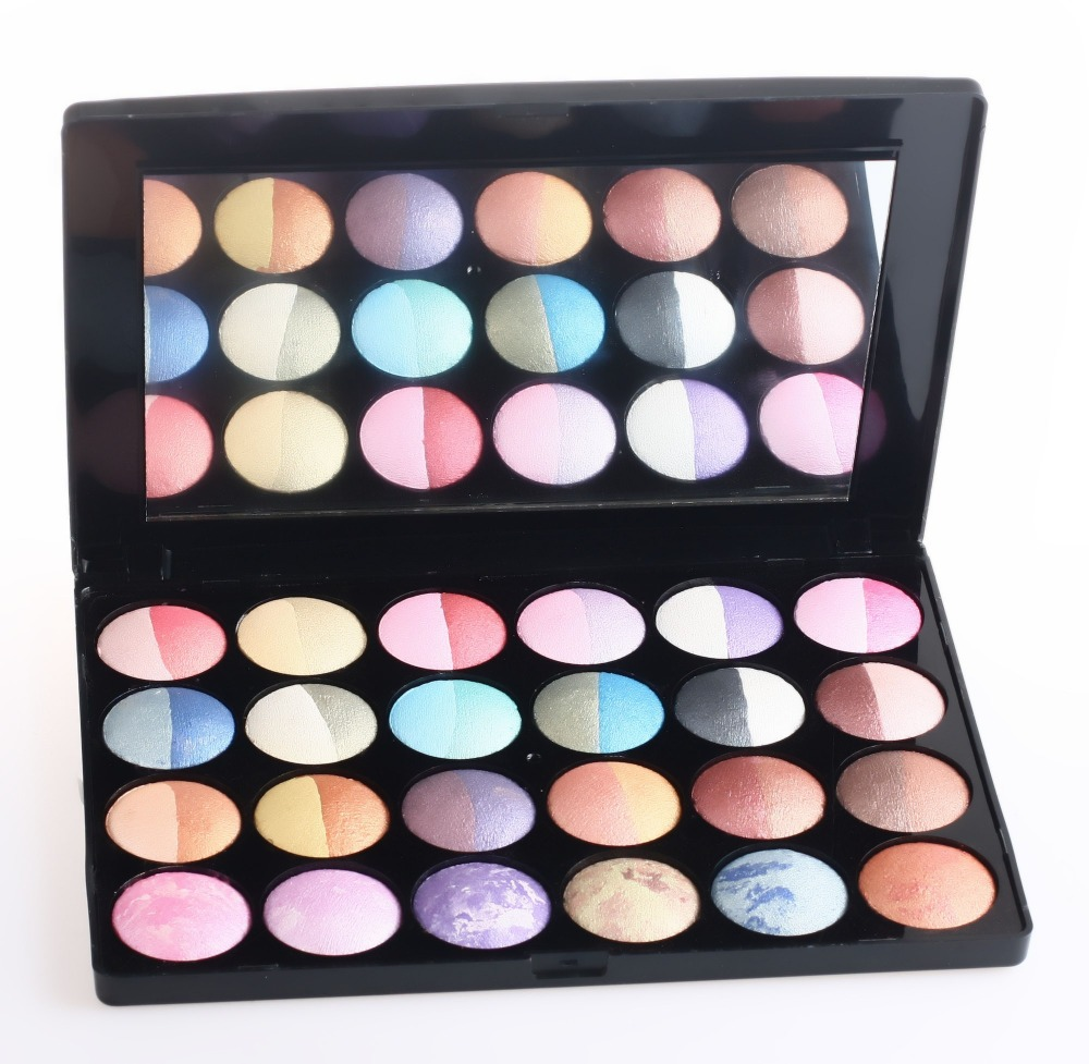 2014 NEW 24 Pcs 48 Color Baked Wet Dry Eyeshadow Palette Free Shipping(China (Mainland))
