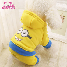 Buy Cute Minions super hero dog costume hoodie vest clothing winter warm fleece small dog puppy coat jacket chihuahua dog clothes for $3.97 in AliExpress store