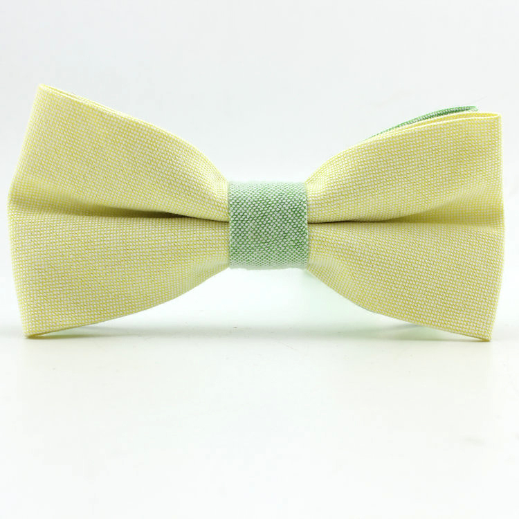 New 2015 high quality fashion man s bow tie solid cotton men s butterfly ties