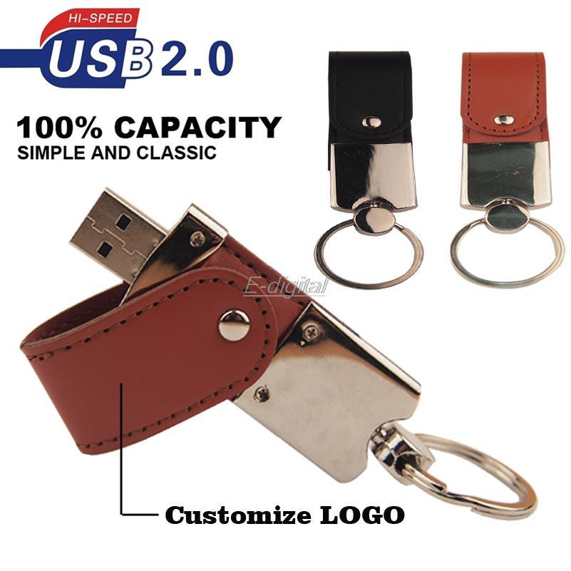 Brand New Custom LOGO leather memory Stick usb 2.0 usb flash drive pen drive pendrive 4gb 8gb 16gb U disk wedding gift business(China (Mainland))