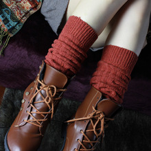 3 pairs of Korean winter vertical stripes pure wool boot socks wholesale female knee leg warmers export boots gaiters kneepad(China (Mainland))