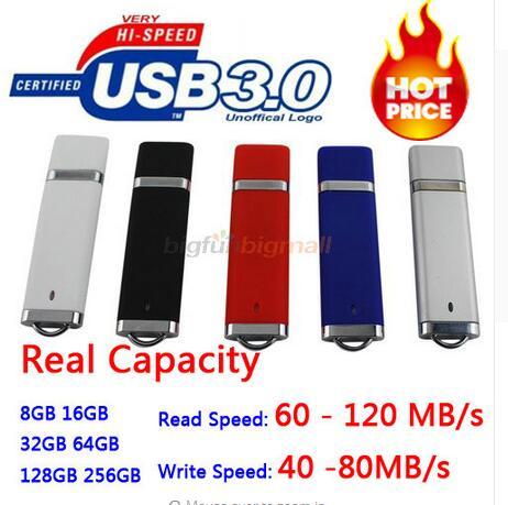 15-130MB/S Read High Speed USB 3.0 Flash Drive 128GB 16GB 32GB 64GB HOT Pen Drive 512GB 1TB 2TB Memory Stick USB Key Gift 256GB(China (Mainland))