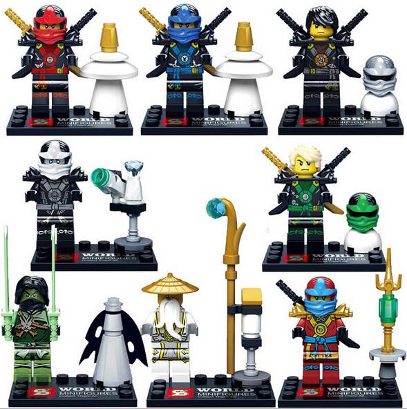 2016 Hot SY285 8Pcs Kai Ninja Minifigures Building Blocks Set Model Bricks Toys Aciton Figures Compatible(China (Mainland))