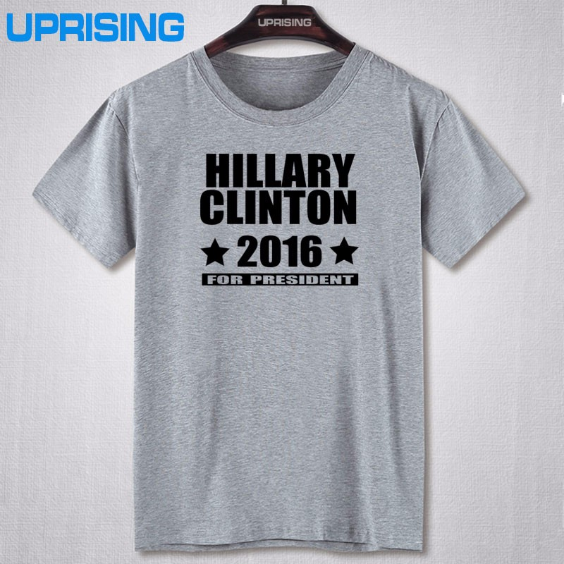 UPRISING casual Style Hillary Clinton for President Election Republican Democrat Design Cotton Slim Fit Short Sleeve T-shirts  HTB1r4xrKXXXXXaIaXXXq6xXFXXXT