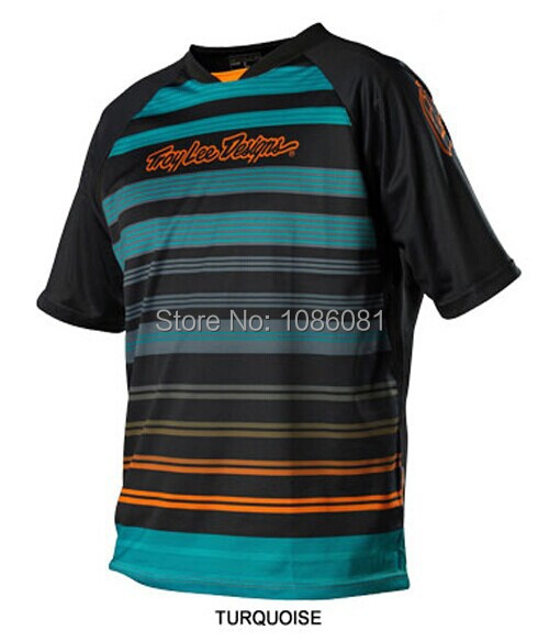 Hot sale! 2014 Troy Lee Designs Skyline lee Jersey MX DH Offroad Cycling Bike Sports TLD Short Jersey T-shirts TURQUOISE(China (Mainland))