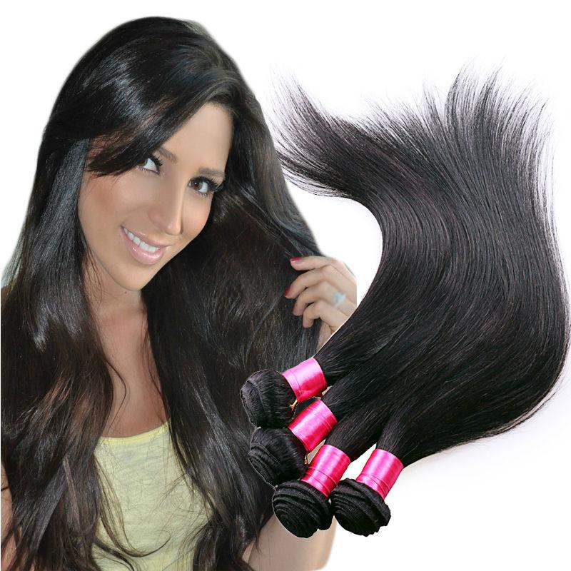 Aliluxy Malaysian Straight Hair 4 Bundles Malaysian Straight Hair Thick Virgin Maylasian Hair Straight 8