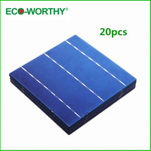 Hot *  20pcs Solar Cell 6×6 A Grade 3 Bus Bars 4.3W Each Cell DIY Solar Panel 156x156mm Polycrystalline Solar Cell Price