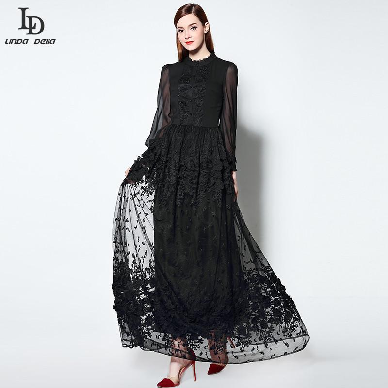 High Quality New 2016 Fashion Designer Runway Dress Women