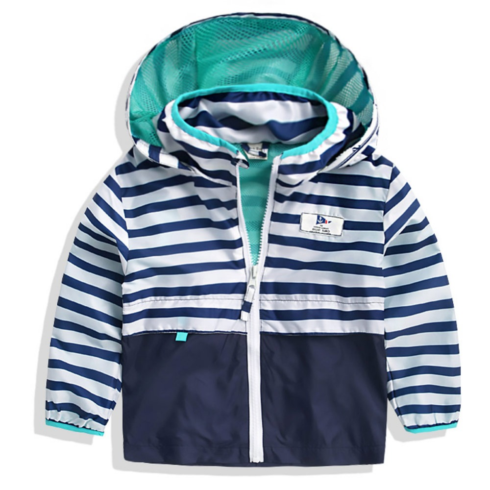 Hot sale boys coat The boy baby cardigan coat 2016 children the new spring clothing childrens clothing stripe splicing coat<br><br>Aliexpress