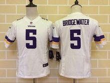 2016 Kids Youth Minnesota Vikings #5 Teddy Bridgewater Stitched Purple/White(China (Mainland))