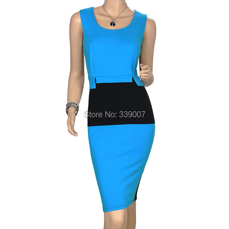 Europe Style Fashion Celebrity Elegant Ladies' Pencil Dress,Women's Patchwork Slim Casual dress - Love fashion love beautiful women's clothing store