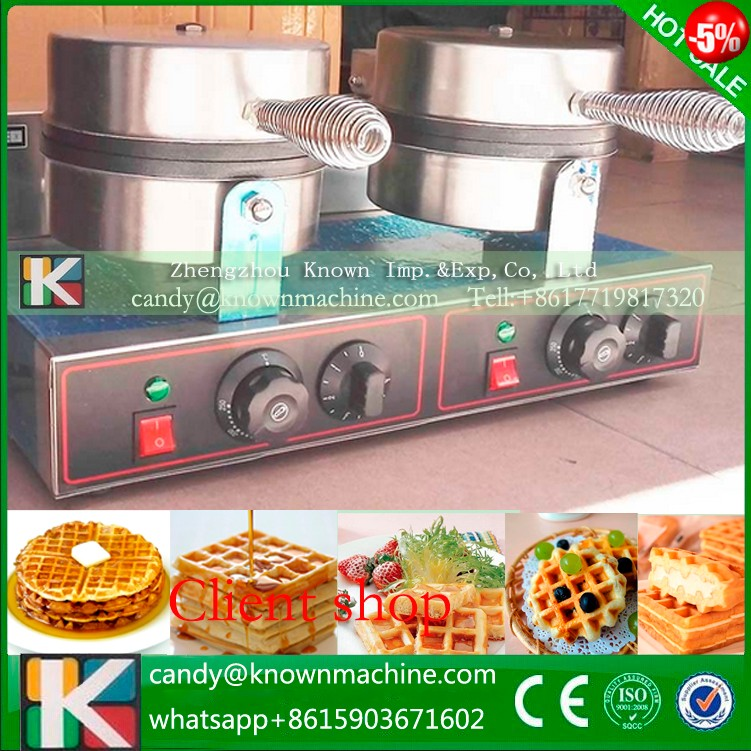 Free ship double non-stick Waffle machine