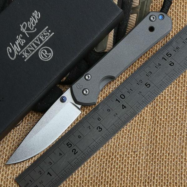 Chris Reeve small Sebenza titanium D2 Folding blade knife Tactical camping hunting outdoors pocket survival knives Utility Tools(China (Mainland))