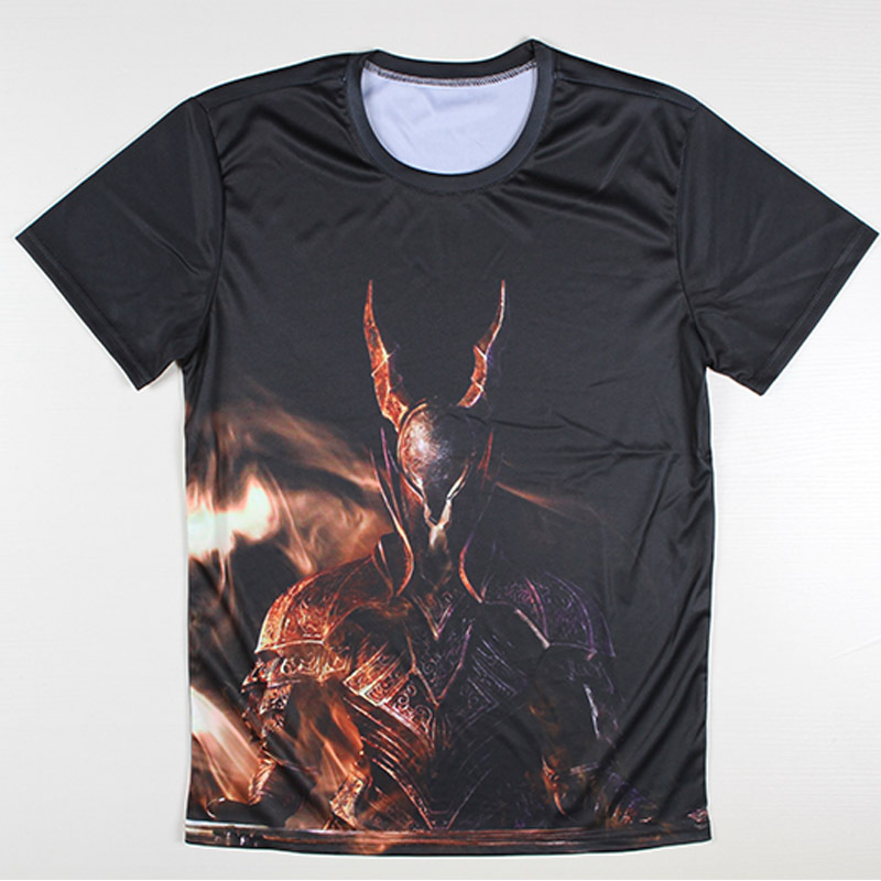 Novelty design 3d men 39 s t shirts fashion fire printed for On fire brand t shirts