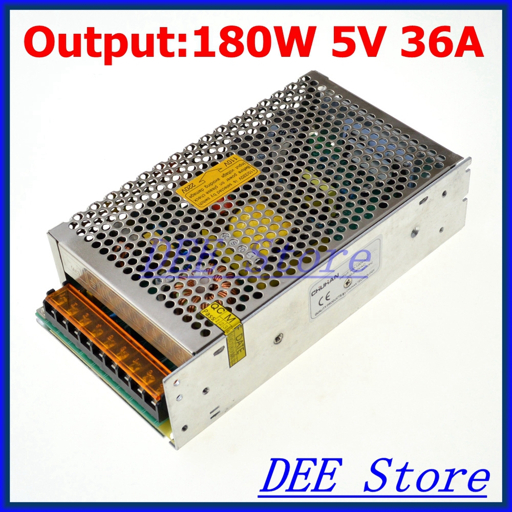 180W 5V 36A Single Output Uninterruptible Adjustable Switching power supply unit for LED Strip light Universal AC-DC Converter<br><br>Aliexpress