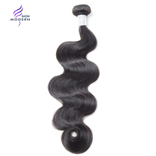 Buy Modern Show Hair Body Wave Brazilian Hair Weave Bundles Natural Color Remy Human Hair Weaving 10-30 Inch 1 Piece Free for $20.89 in AliExpress store