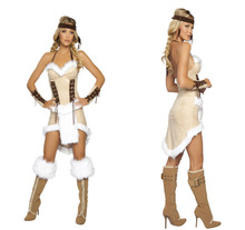 Freeshipping Women's Native Indians Christmas role-playing Cosplay Christmas Halloween Costumes(China (Mainland))