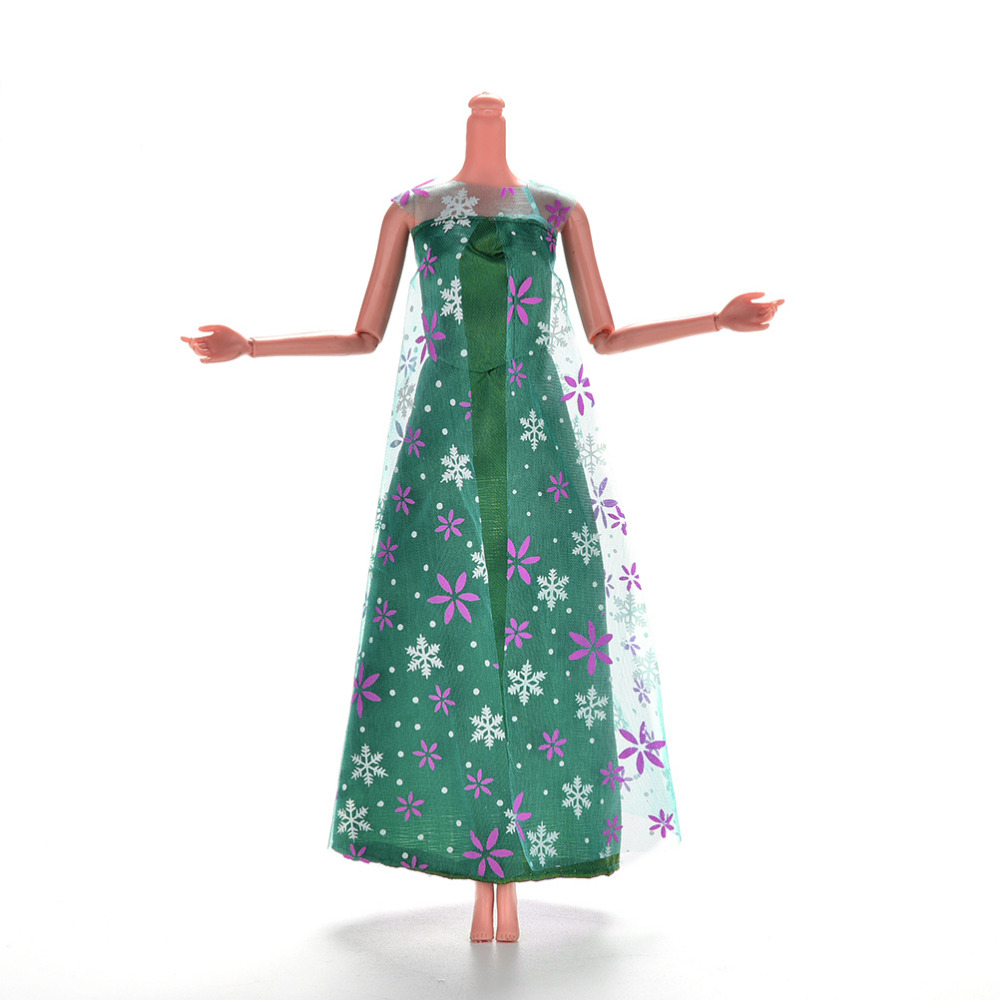 1 Pcs Beautiful Handmade Party Clothes Fashion Long Dress for Noble Barbie Doll Dress(China (Mainland))